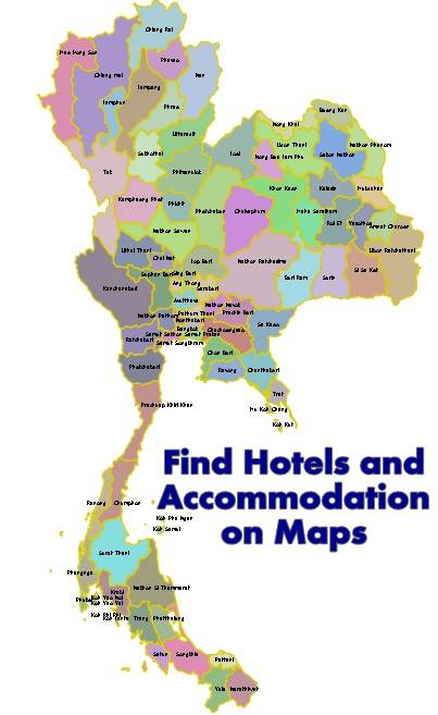 Find Hotels and Accommodation Location on Maps